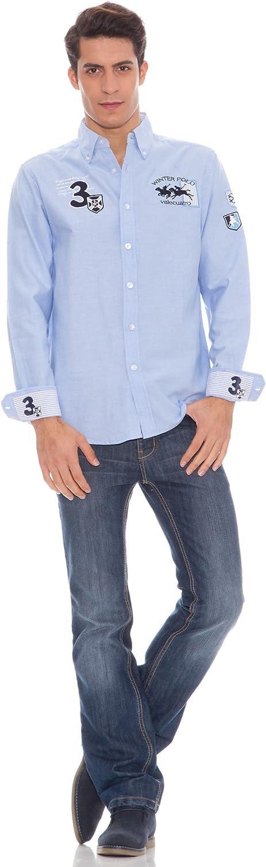 Valecuatro Camisa Azul Celeste S: Amazon.es: Ropa y accesorios
