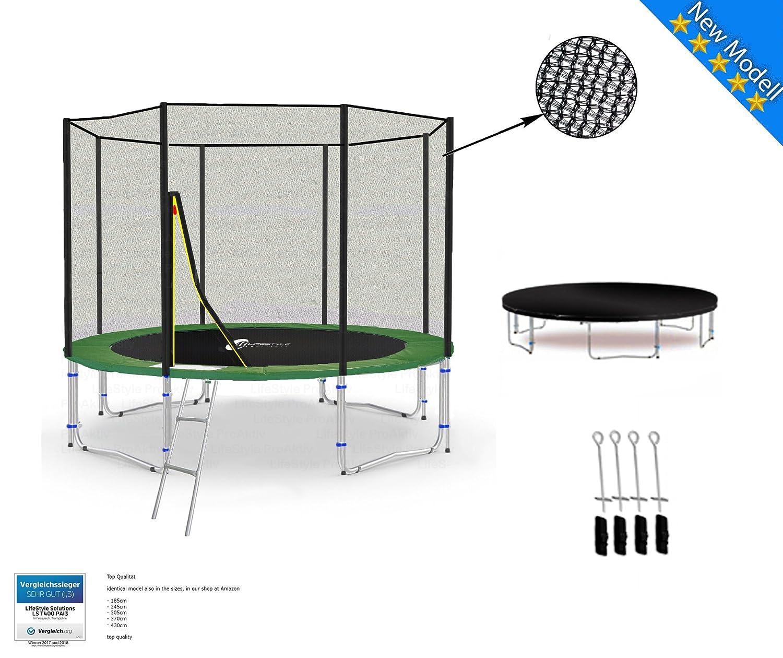 LS-T305-PA10 (G) LifeStyle ProAktiv Garten- Trampolin 305 cm - 10ft - Extra Starkes Sicherheitsnetz - Neu