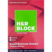 H&R Block Premium & Business 2018 Federal + State Tax Software for Small Business Owners (Windows Vista, 7, 8.1, 10)