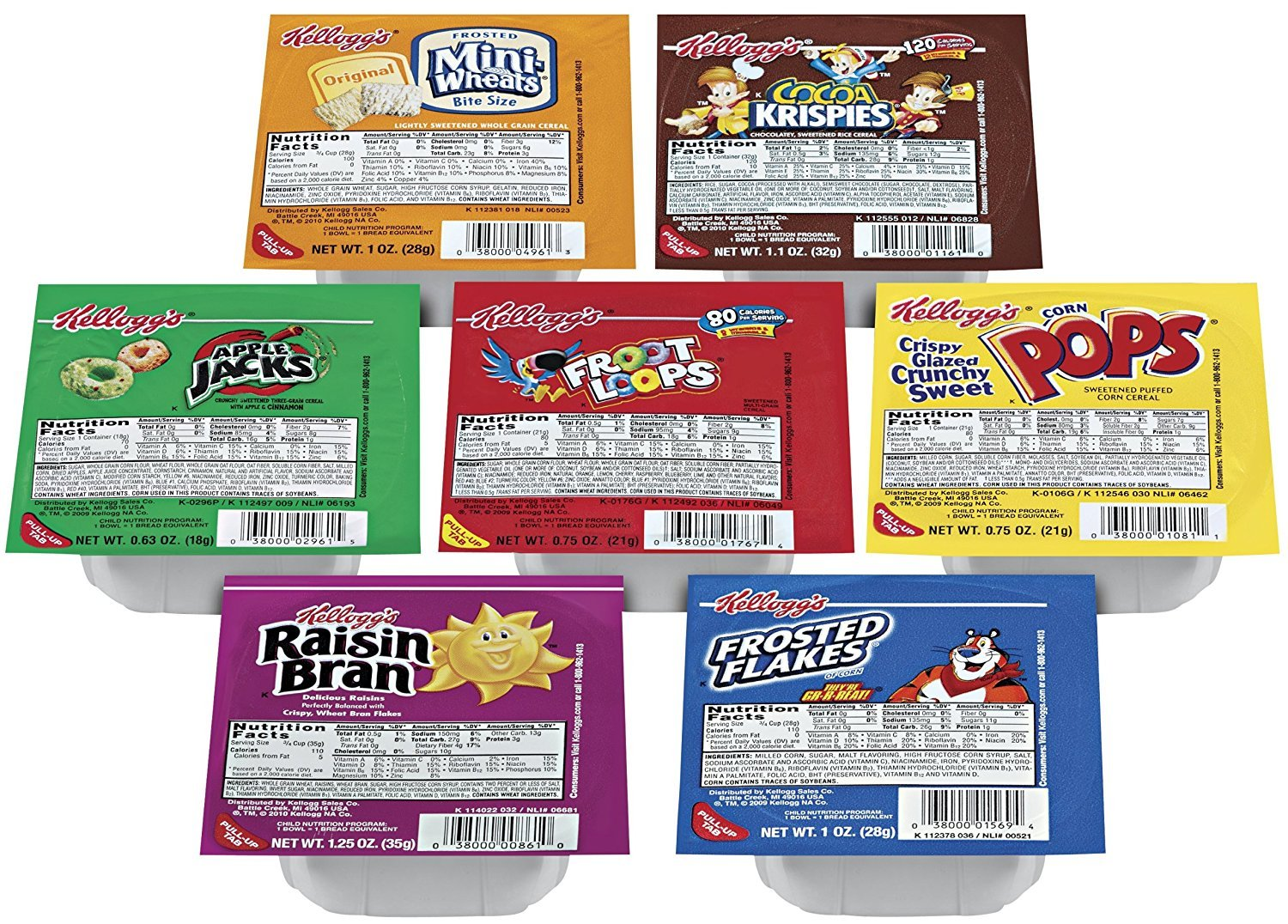 Kellogg's Portable Cereal Variety Pack Assorted 67% OFF of fixed price Fami Super Special SALE held 9 - Flavors