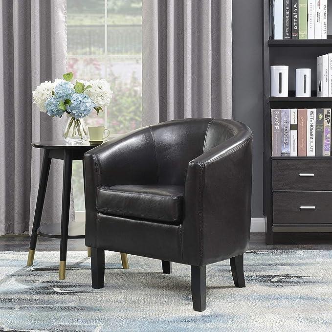 Amazon.com: Arm Chair Single Seat Sofa PU Leather Stylish ...