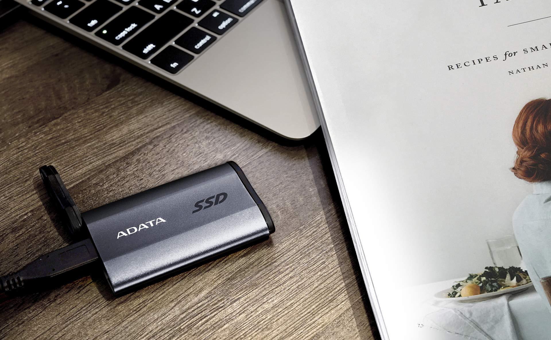 ADATA SE730H 1TB USB 3.1 Gen 2 Type-C Waterproof Shockproof Portable External Solid State Drive Grey (ASE730H-1TU31-CTI) by ADATA (Image #6)