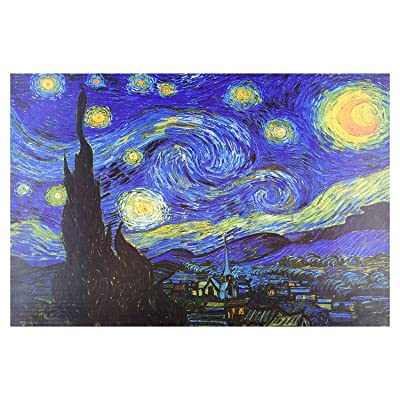 1000 Pieces Jigsaw Puzzles Large Puzzle for Adults, Starry Night by Vincent Van Gogh Jigsaw Puzzle, Intellective Educational Game: Toys & Games