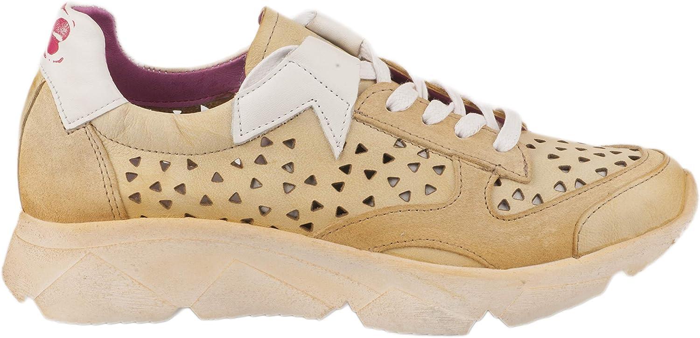 Felmini Baskets Mode Femme Jaune Jaune