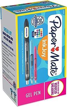 Paper Mate Gel Pens Micro Point Black Ink 36//Pack 2082958