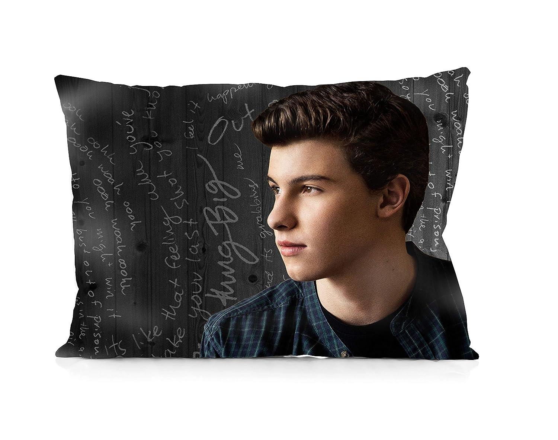 "DoubleUSA Shawn Mendes Pillowcases Two Sides Print Zipper Pillow Covers 20""x30"""