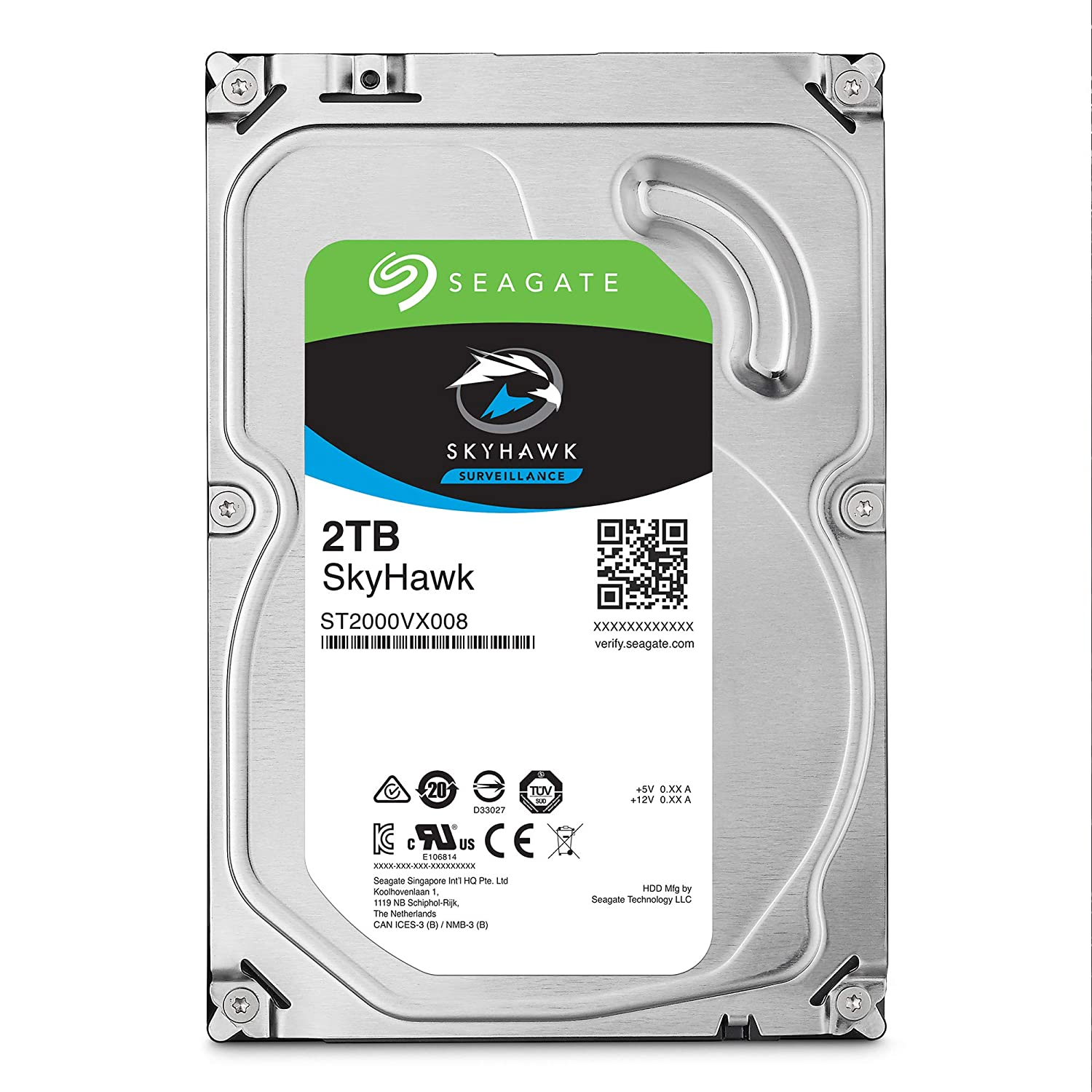 Seagate Skyhawk 2TB Surveillance Internal Hard Drive HDD – 3.5 Inch SATA 6Gb/s 64MB Cache for DVR NVR Security Camera System with Drive Health Management – Frustration Free Packaging (ST2000VX008)