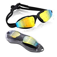 Premium Swim Goggles For Men, Women & Teenagers By Vaincre - Adult Swimming Goggles - Anti-Leak, Anti-Fog & UV Protection Lens - Modern Unisex Design