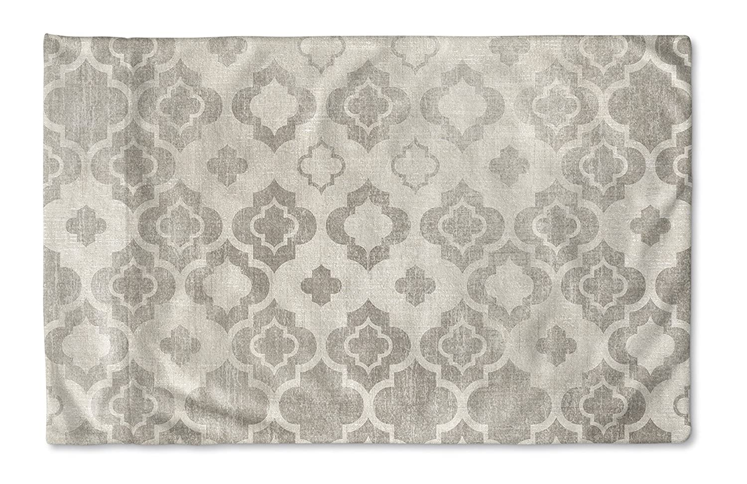 KAVKA Designs Trieste Pillow Case, (Grey/Ivory) - Encompass Collection, Size: 40X20X1 - (TELAVC1475PC42)
