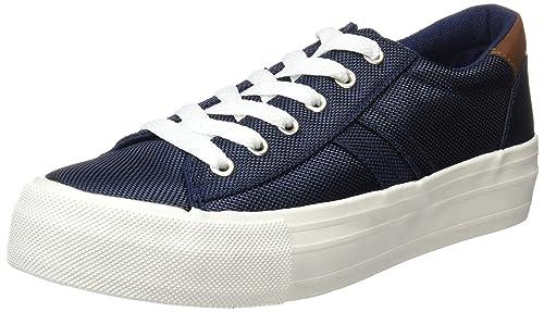 Springfield 5.T.Flatform Canvas Navy, Zapatillas para Mujer, Azul (Blue), 39 EU: Amazon.es: Zapatos y complementos