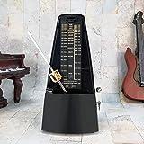 ZHANGSHENG Classic Metronome, Universal Mechanical Metronome for Piano, Guitar, Violin, Other Instruments C510 (Black)