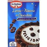 Dr. Oetker - Letras y números de chocolate - Chocolate negro - 82 piezas