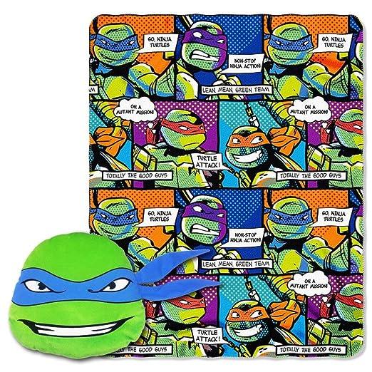 Juego de 2 piezas de mantas con diseño de Tortugas Ninja ...