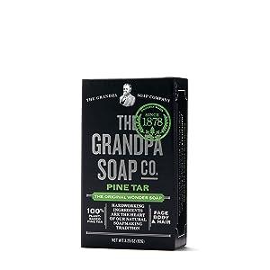 Pine Tar Soap - 3.25 oz Bar (6 Pack)
