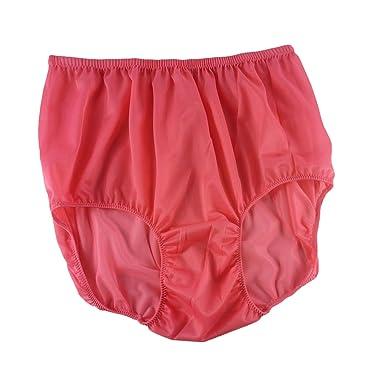 59f2a16f37cbe3 Coral Deep Pink Briefs Nylon Plain New Knickers Panties Underwear Lingerie  Men Women: Amazon.co.uk: Clothing