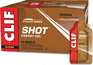 product image for Clif Bar CLIF SHOT - Energy Gels Flavor 50mg Caffeine (1.2 Packet, 24 Count), Mocha, 28.8 Oz