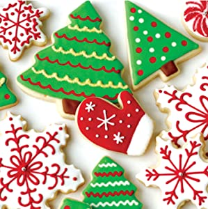 Creative Converting Holiday Treats Beverage Napkins, Red/Green/White