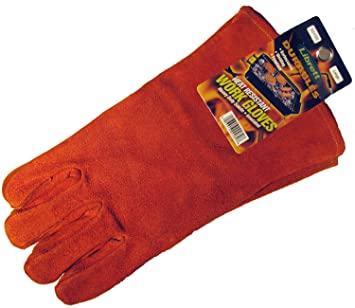 Amazon.com : Librett Large Insulated Suede Leather Barbeque ...