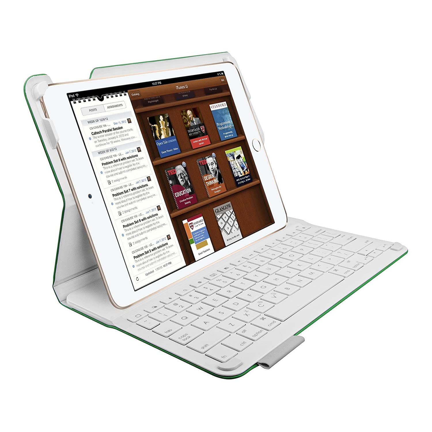 new concept 4fd0f 04494 Amazon.com: Logitech Type+ Bluetooth Keyboard Case for iPad Air 2 ...