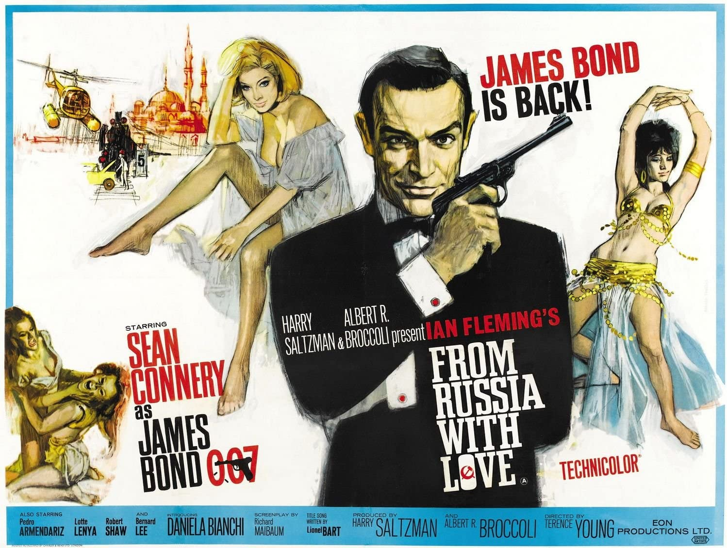From Russia With Love (James Bond) - Mounted Movie Poster: Amazon ...