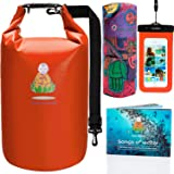 Dry Bag Waterproof Mens Sack | BEST Womens Large Reusable Bags Food Travel Backpack with Strap & Universal Phone Case for Boating, Camping, Kayaking, Rafting, Hiking & Multifunctional Bandana