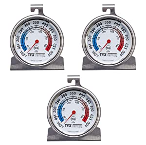 Taylor Precision Products Classic Series Large Dial Thermometer, Oven, 3 Pack