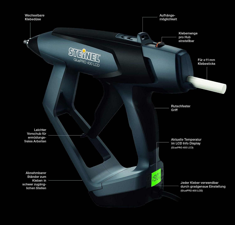Steinel 052690/gluepro 400/LCD profesional Pistola termofusible con gradgenauer indicador de temperatura, 40/W, 230/V