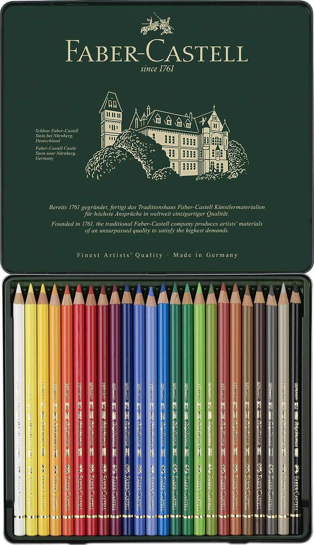 Faber-Castell-110024 Lápices de Colores, 24 Unidades, Multicolor, ecolápices (Polychromos 110024): Amazon.es: Juguetes y juegos