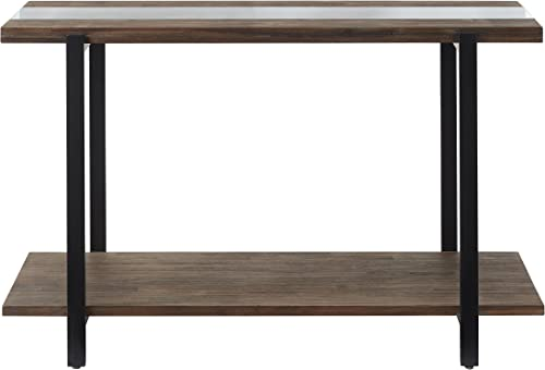 Standard Living Dumont Distressed Glass Sofa Table, 48.0 W x 19.0 D x 30.0 H, Brown