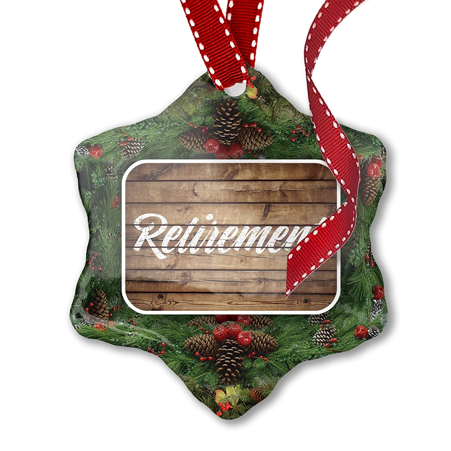 Neonblond Painted Wood Retirement Metal License Plate