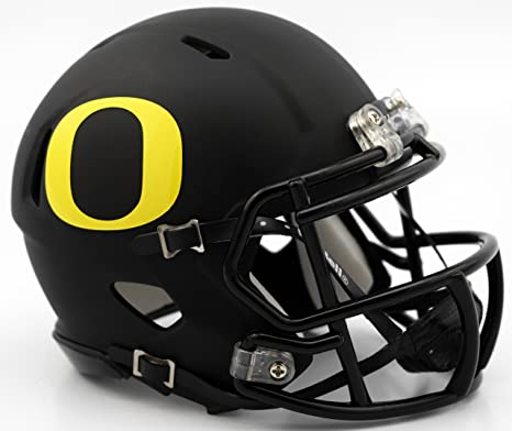 a9efc412c9a Image Unavailable. Image not available for. Color  Oregon Ducks Matte Black  Revolution Speed Mini Football Helmet