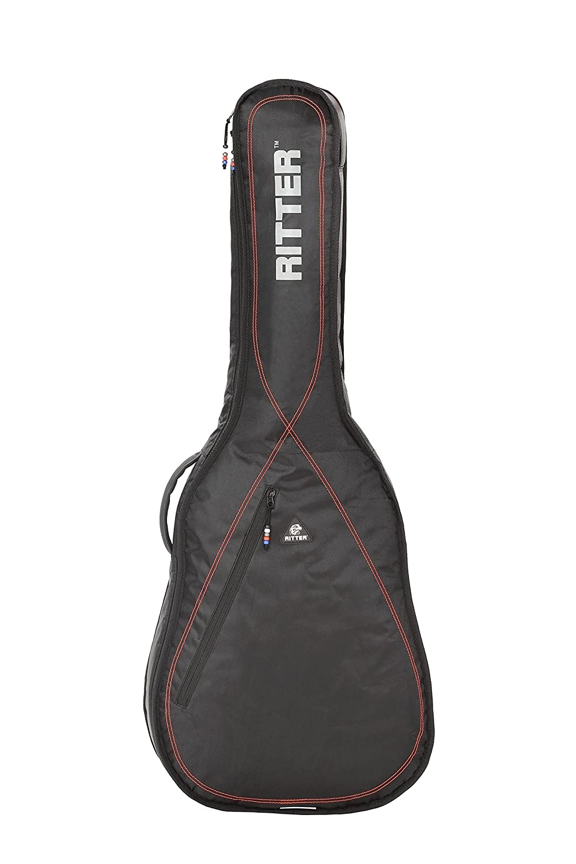 Ritter RGP2-C/BRD - Funda/estuche para guitarra clasica 4/4 con tejido repelente al agua, color negro con rojo: Amazon.es: Instrumentos musicales