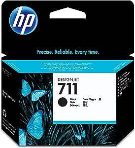 HP 711 Original Negro 1 Pieza(s) - Cartucho de Tinta para impresoras (Original, Tinta a Base de pigmentos, Negro, HP, Designjet T120, T520, 1 Pieza(s)): Amazon.es: Oficina y papelería