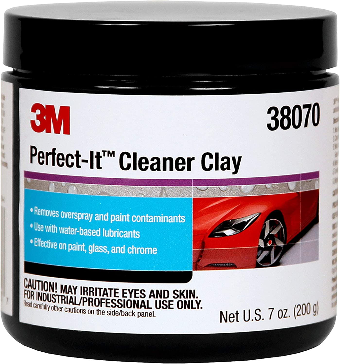 3M Perfect-It Cleaner Clay, 38070, 200 g, 1 bar per bottle
