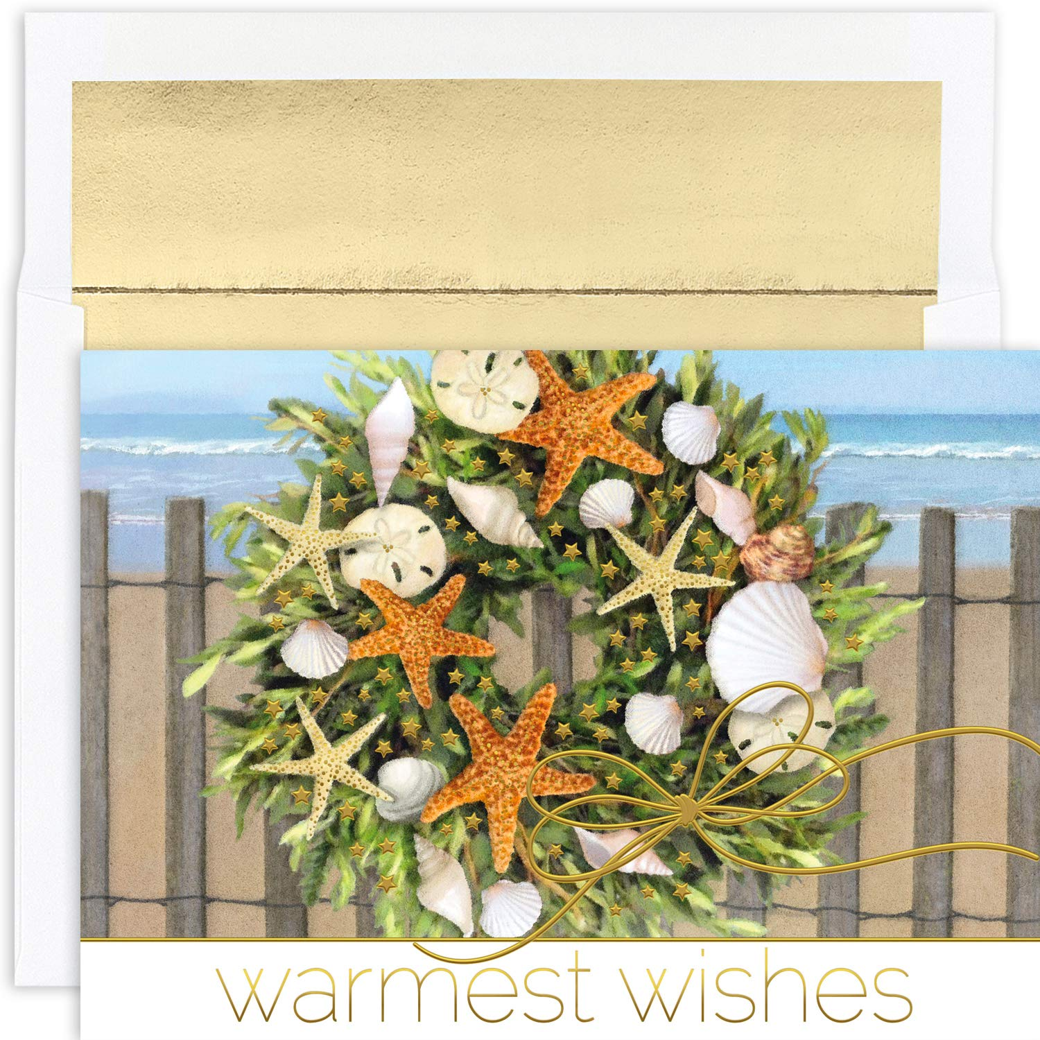 Masterpiece Studios Warmest Wishes Holiday 18 Cards / 18 Foil Lined ...