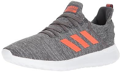 adidas Men's Lite Racer BYD Running Shoe Grey Five/Solar Red/White 12.5 D(M) US