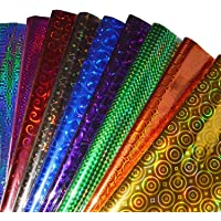 VJTI gift wrapping paper roll Plastic sheets Metallic gift Wrapping Paper sheet pack of 25 (XL size, 70cm*50cm)
