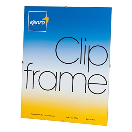 Kenro Clip 8x12 inch / 10x15cm Photo Frame with Gl Front for ... on