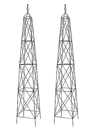 Exceptionnel Pair Of Selections Parisian Steel Garden Obelisks (2.1m): Amazon.co.uk:  Garden U0026 Outdoors
