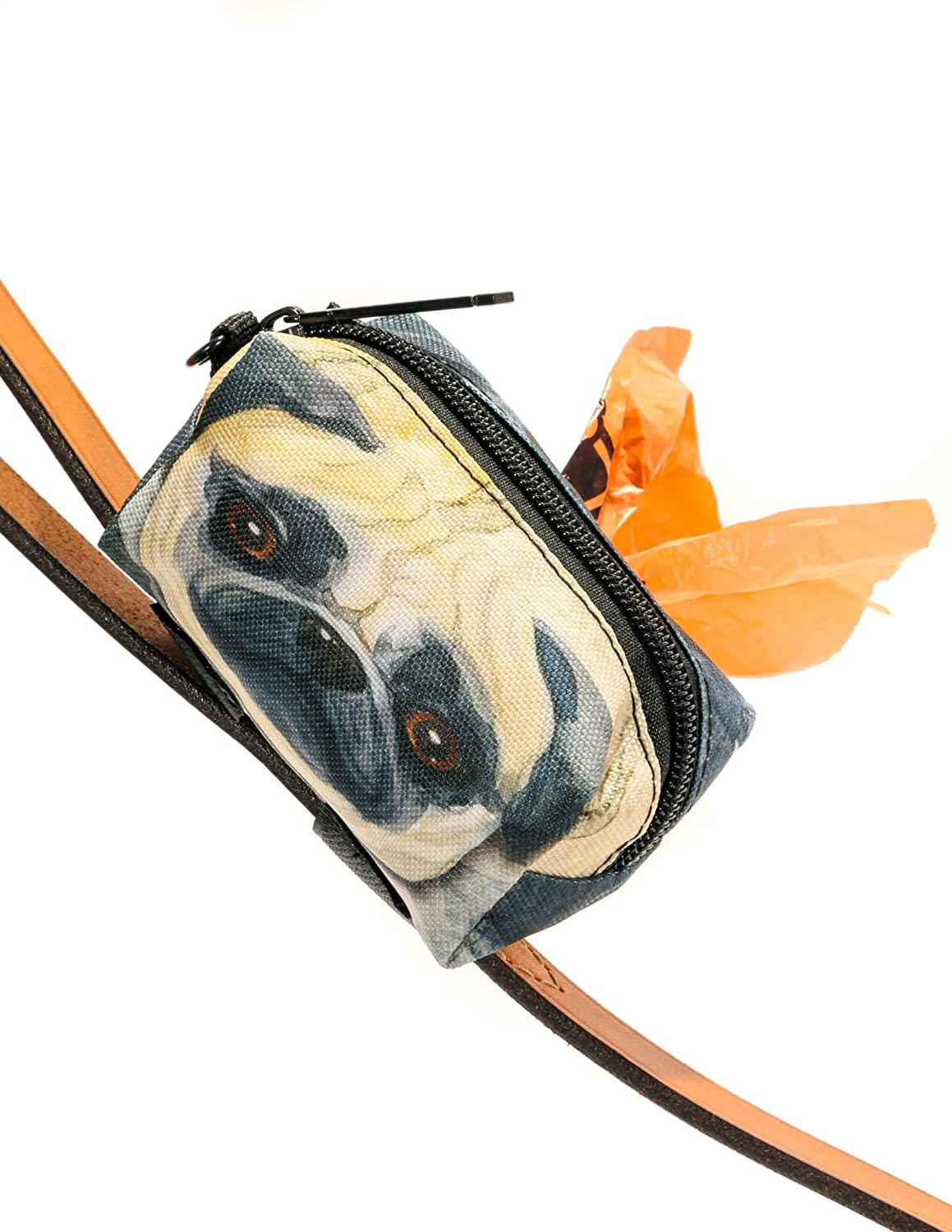 poopyCUTE Doggy Poop Waste Bag Dispenser for Fashionably Cute Owners and All Dog Breeds Luxury Fashion Style INDY Check Red