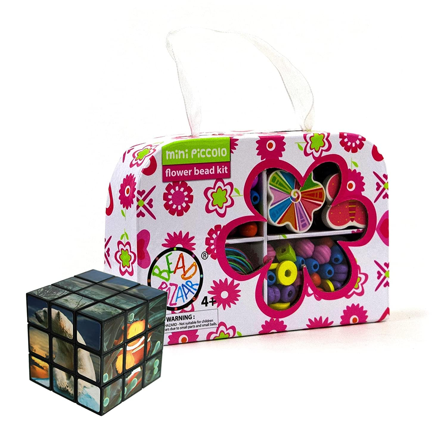 The Quality Gift Shop Flower Beads Made Easy - Comes with a Fun Sealife Magic Cube Puzzle Amazing Gift Ideals