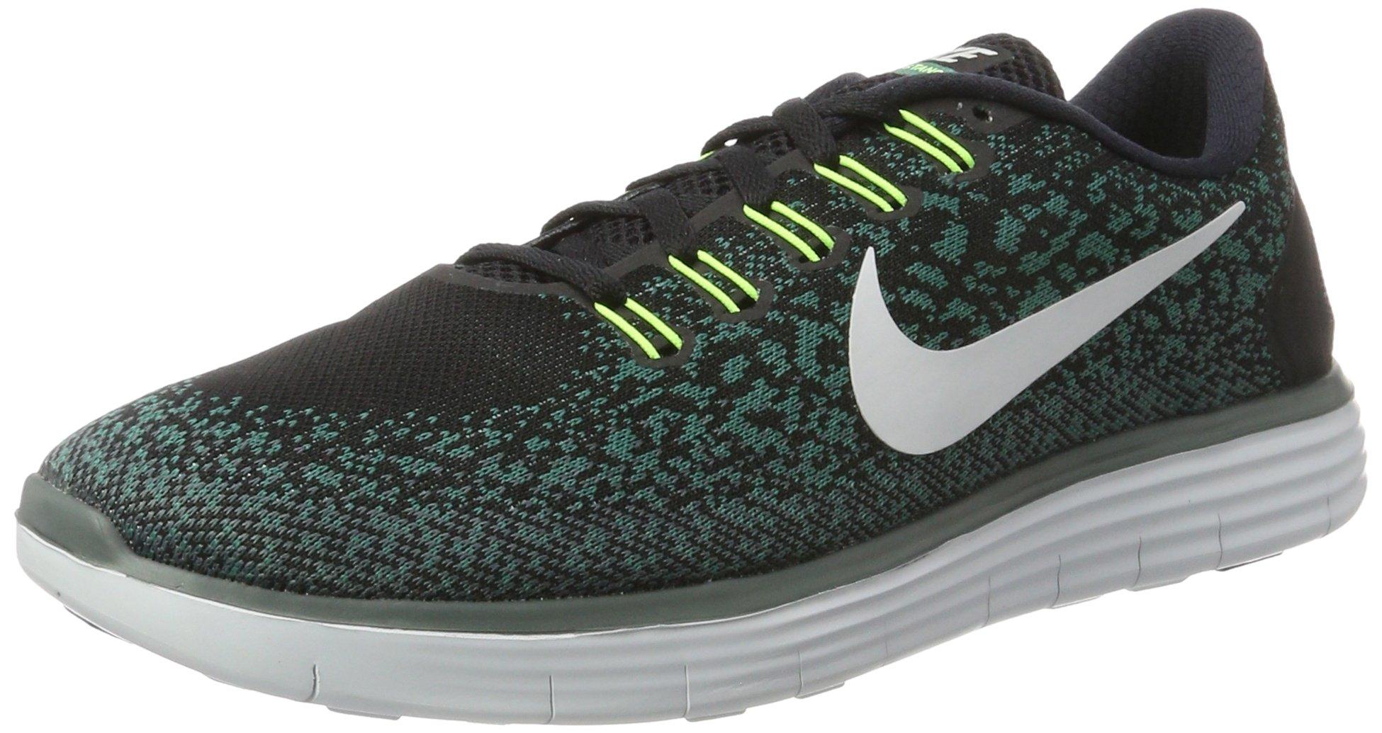 Nike Men's Free RN Distance Running Shoe Black/Pure Platinum 10