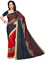 Ishin Women's With Blouse Piece Synthetic Saree