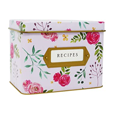 """Jot & Mark Decorative Tin for Recipe Cards 