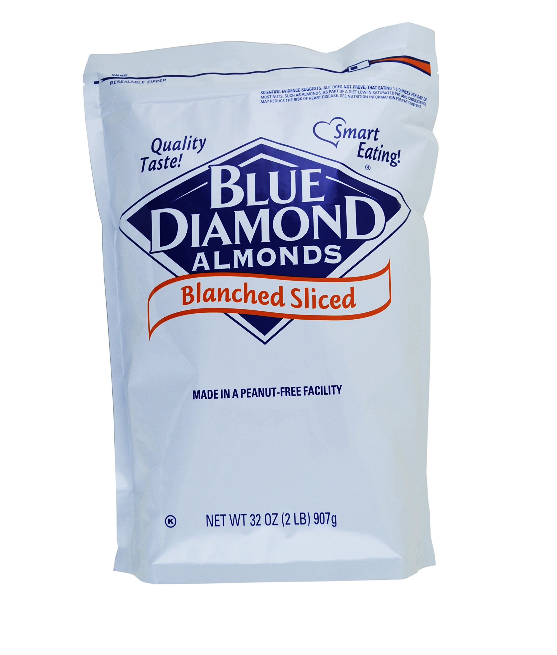 Blue Diamond, Blanched Sliced Almonds 2 lb. (4 Count)