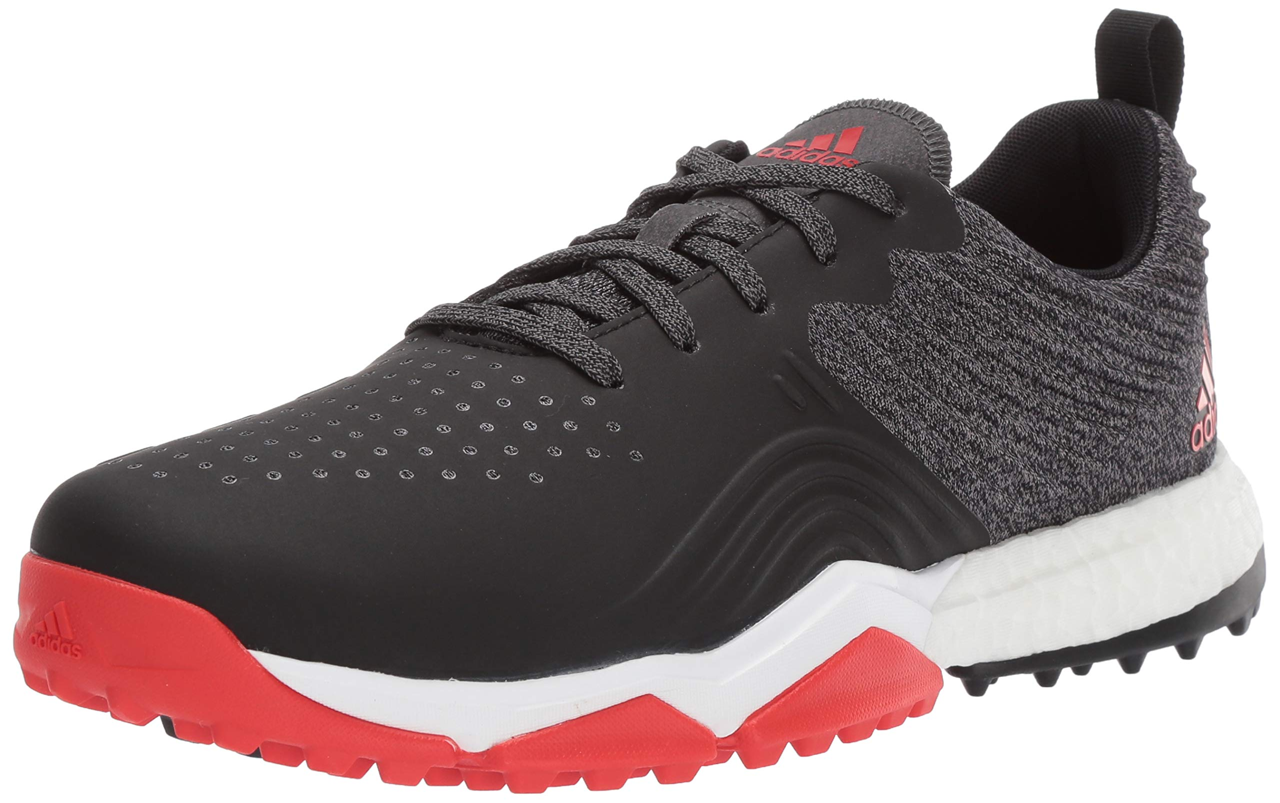 adidas Men's Adipower 4ORGED S Golf Shoe, core Black/red/FTWR White, 11 W US by adidas