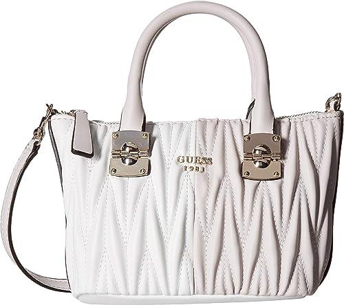 Amazon.com  GUESS Women s Keegan Petite Satchel Powder Multi One Size  Shoes e1e5d11431fee