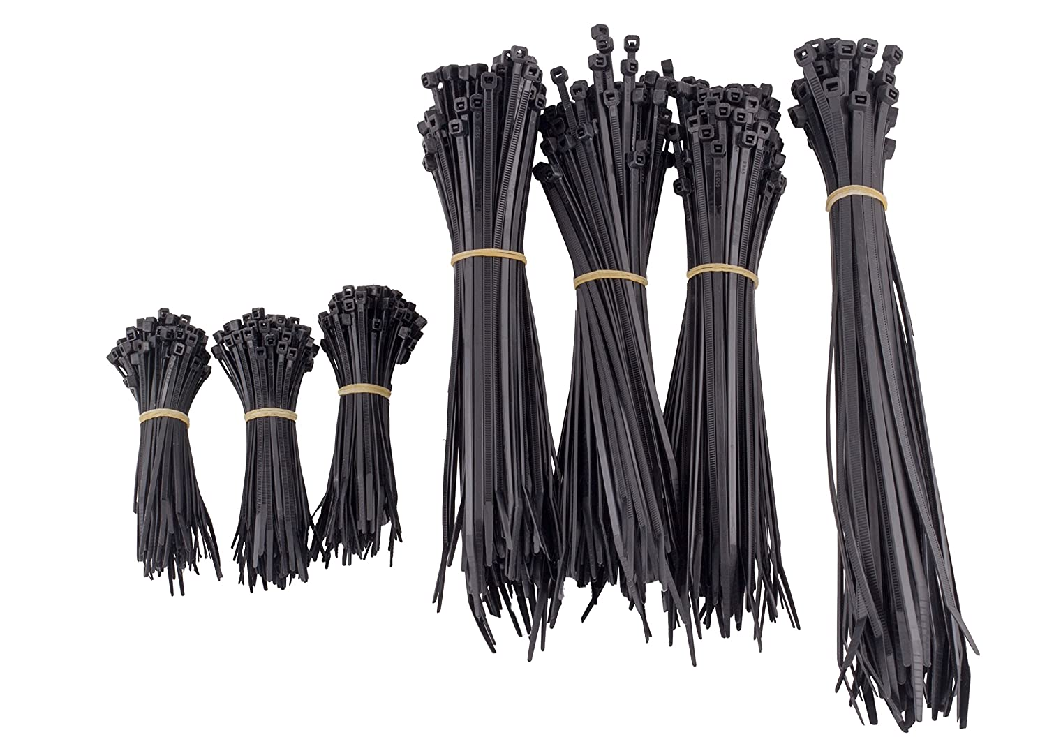 NSI CTP-650B 650 Piece Cable Tie Canister Pack Uv Black
