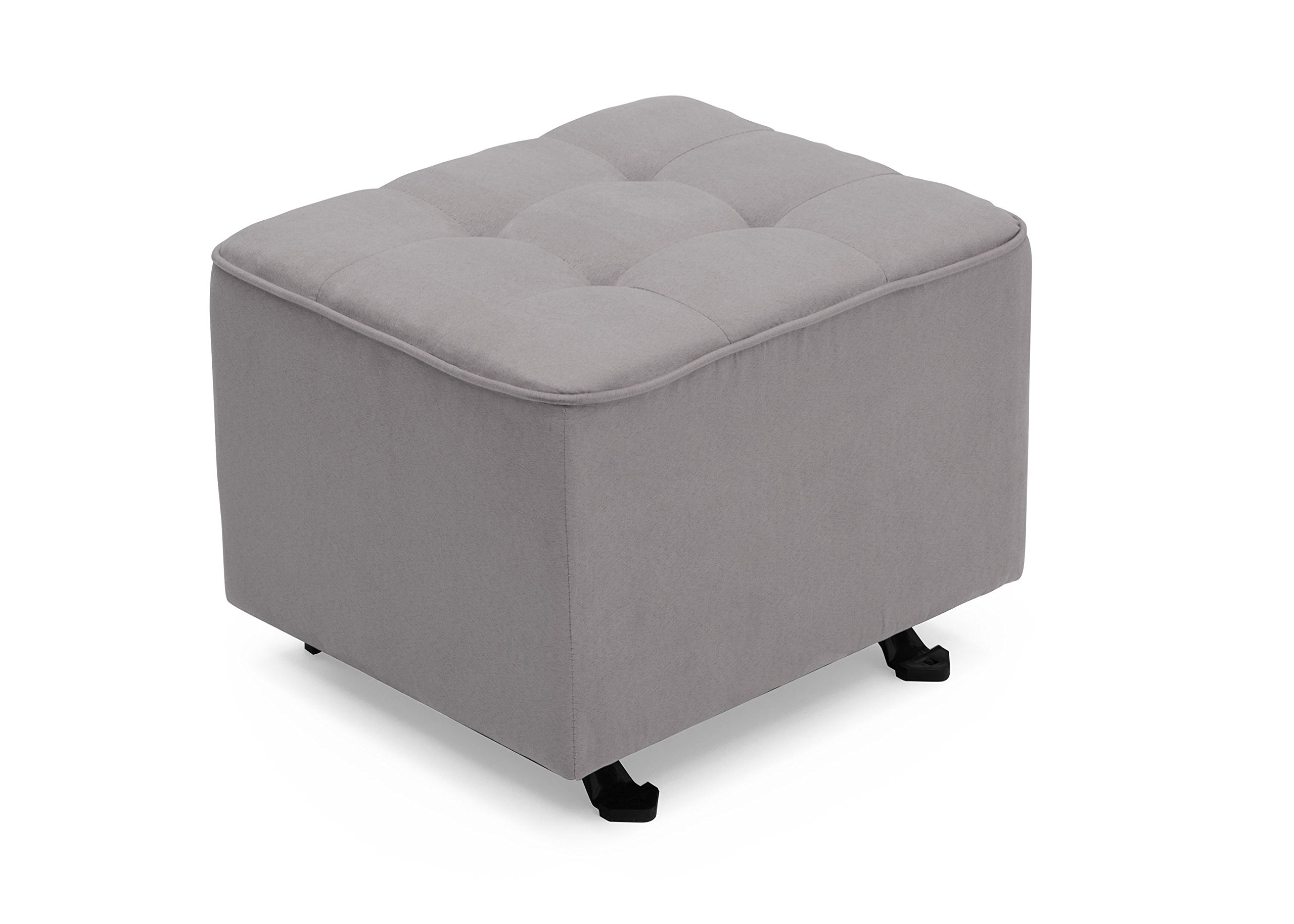 Delta Furniture Tufted Gliding Ottoman, Dove Grey