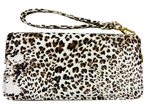 Leopard - Cartera para Mujer Mujer Marrón Braun Dark Brown: Amazon.es: Zapatos y complementos